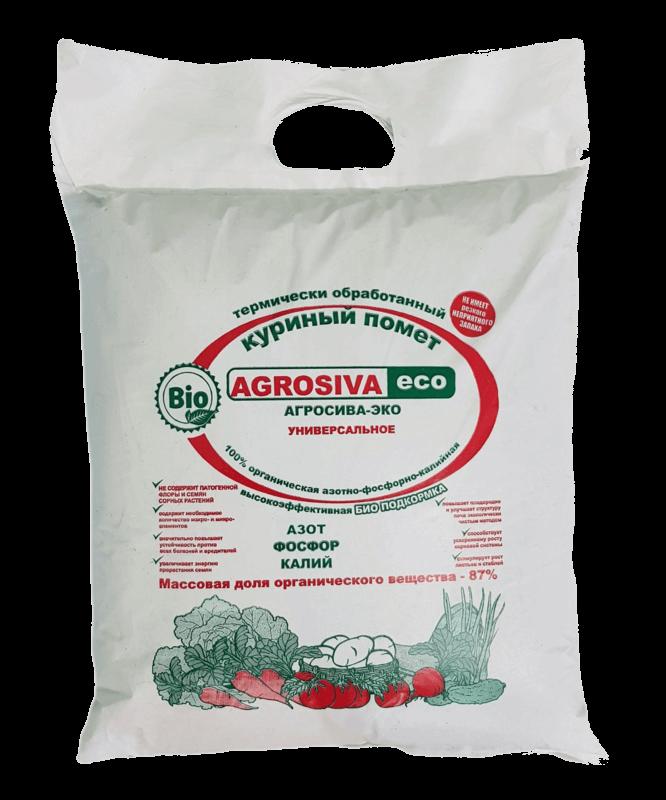 Удобрение из куриного помета АГРОСИВА-ЭКО 5л, 12л